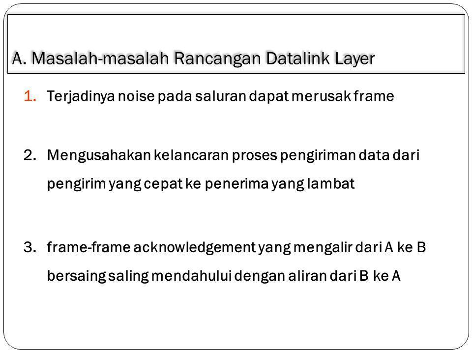 A. Masalah-masalah Rancangan Datalink Layer