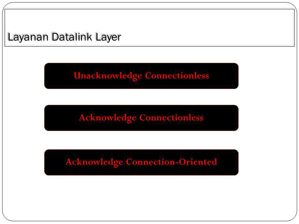 Layanan Datalink Layer