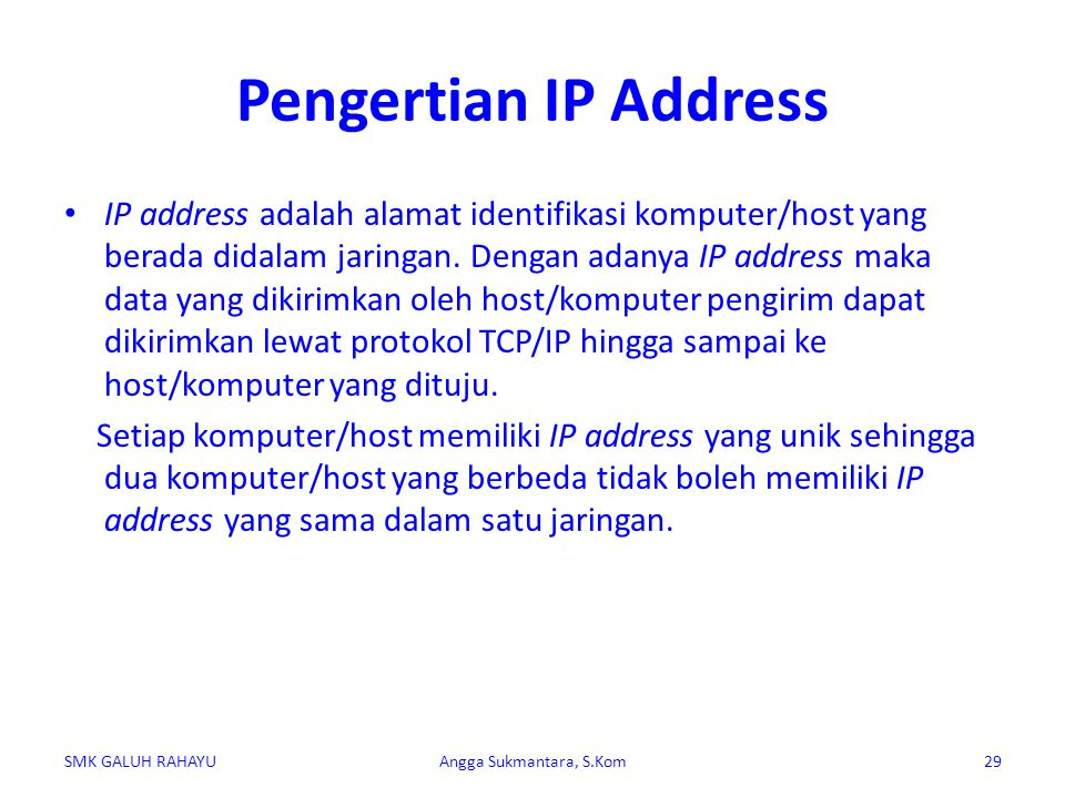 Pengertian IP Address