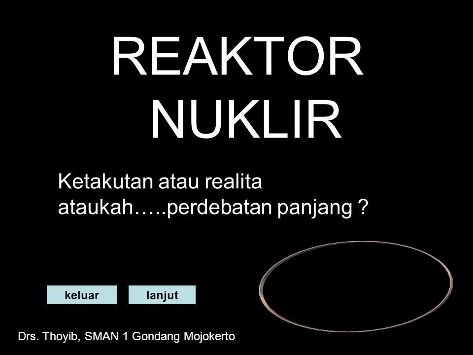 REAKTOR NUKLIR Ketakutan atau realita ataukah…..perdebatan panjang