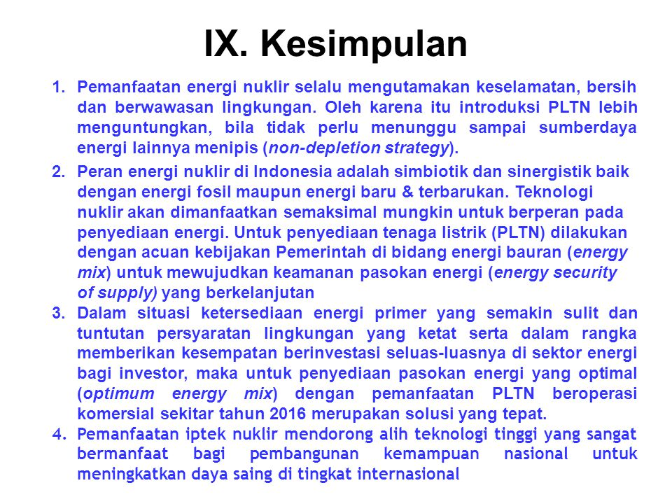 IX. Kesimpulan
