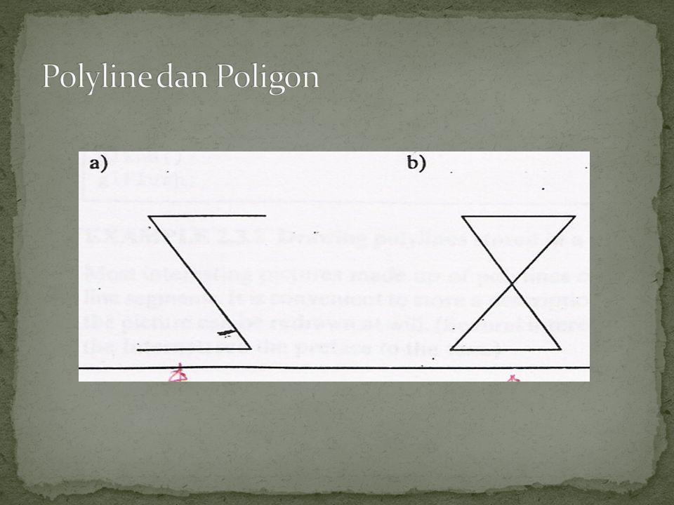 Polyline dan Poligon