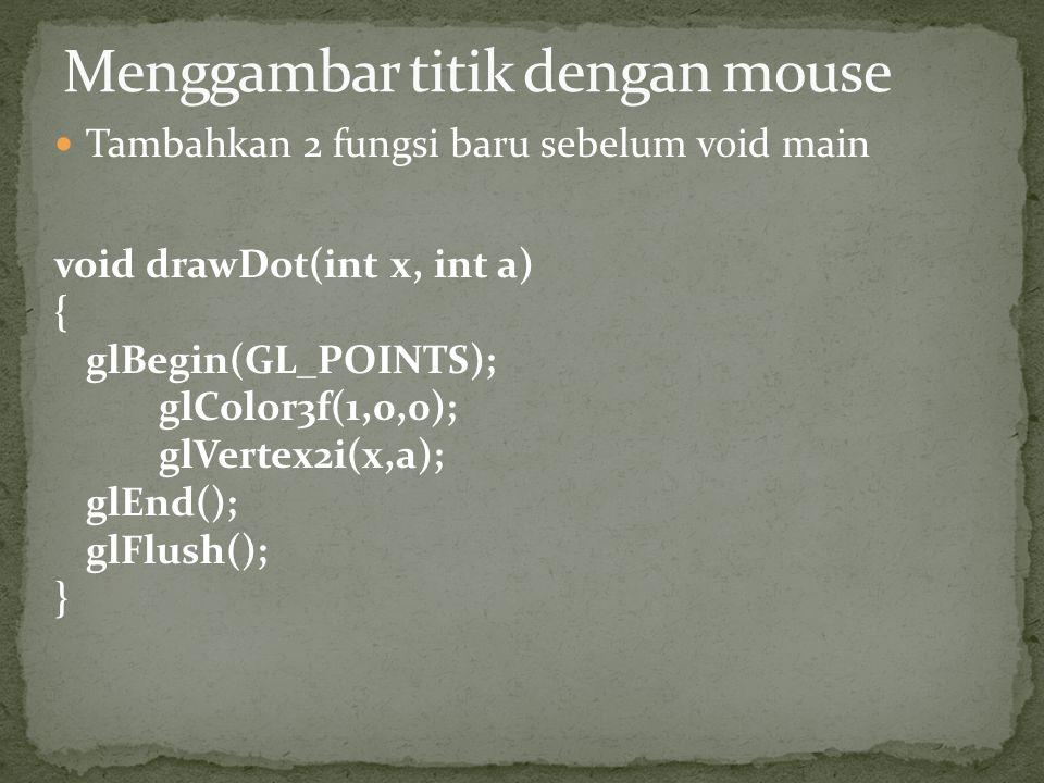 Menggambar titik dengan mouse