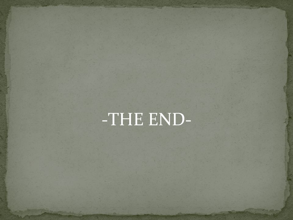 -THE END-