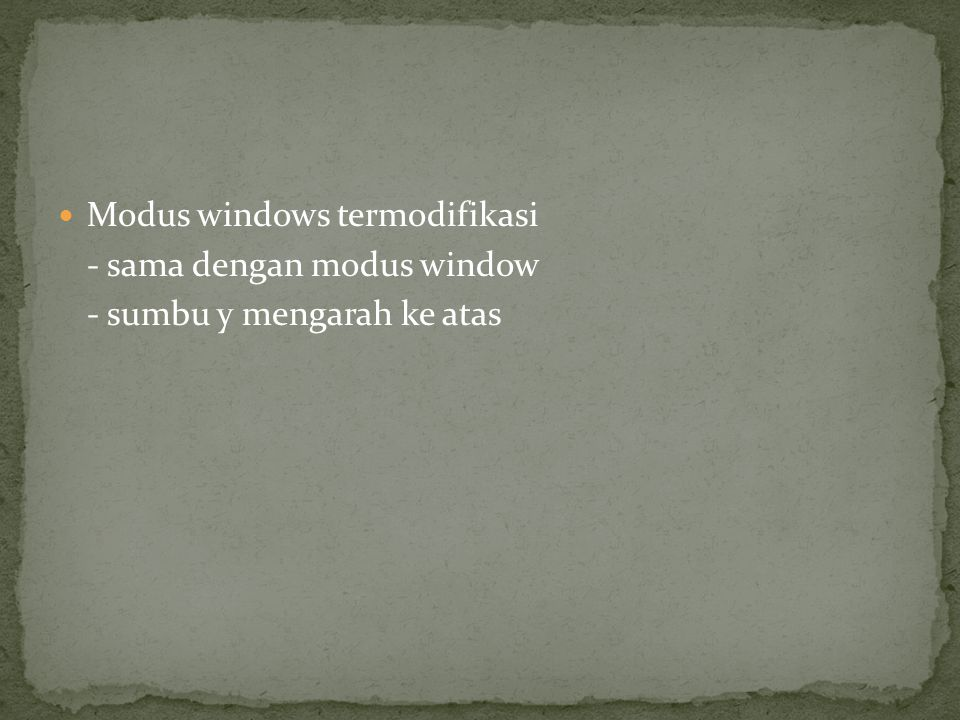Modus windows termodifikasi