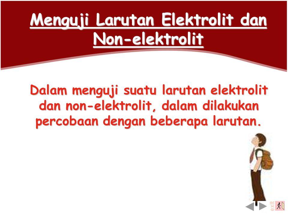 Menguji Larutan Elektrolit dan Non-elektrolit