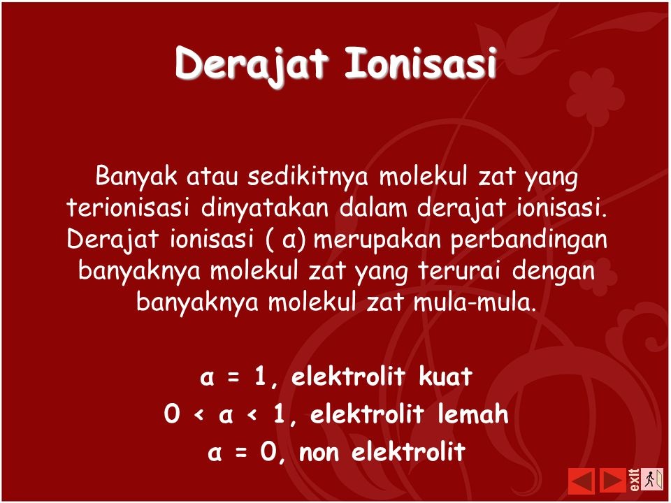 0 < α < 1, elektrolit lemah