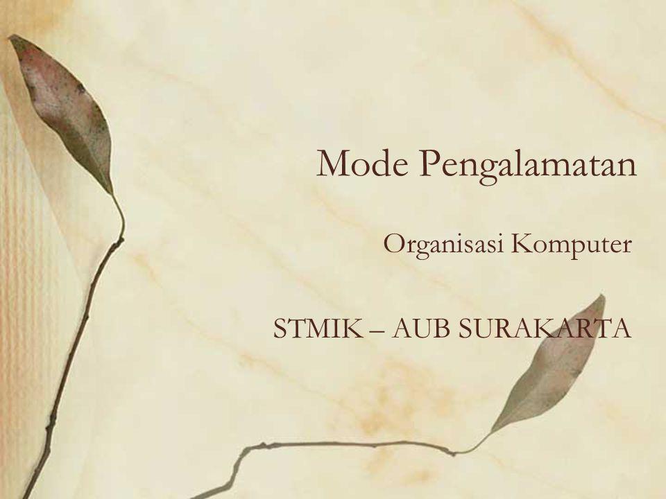 Organisasi Komputer STMIK – AUB SURAKARTA