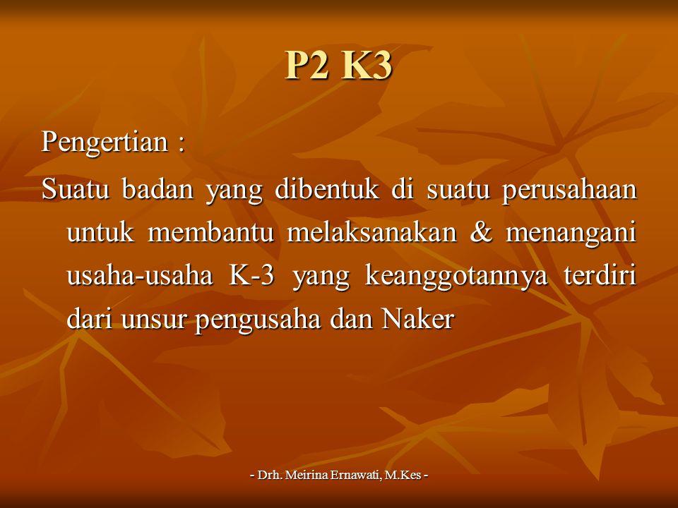 - Drh. Meirina Ernawati, M.Kes -