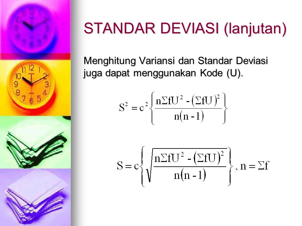 STANDAR DEVIASI (lanjutan)
