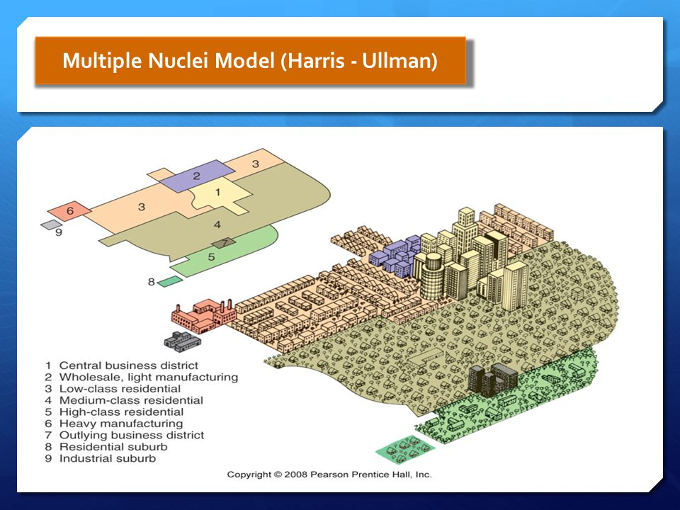 Multiple Nuclei Model (Harris - Ullman)