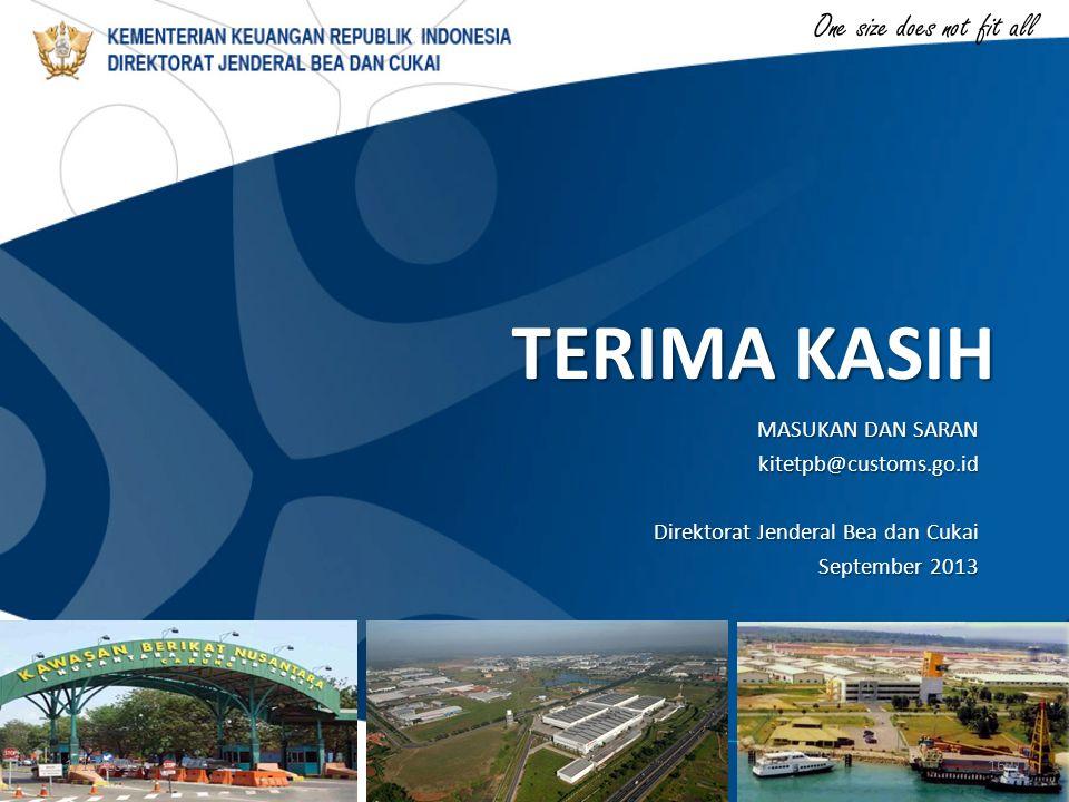 TERIMA KASIH MASUKAN DAN SARAN kitetpb@customs.go.id