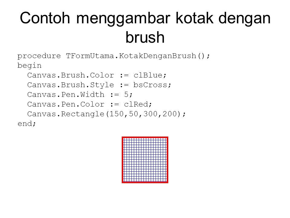 Contoh menggambar kotak dengan brush
