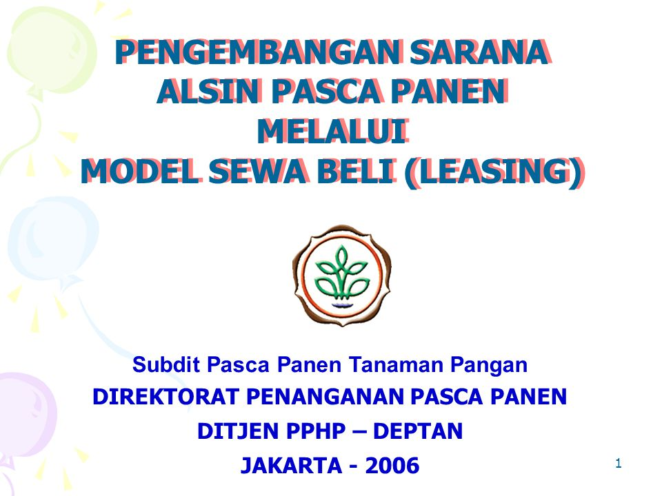 MODEL SEWA BELI (LEASING)
