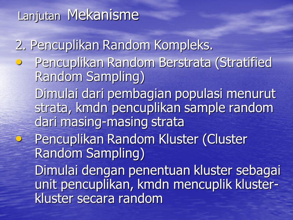 2. Pencuplikan Random Kompleks.