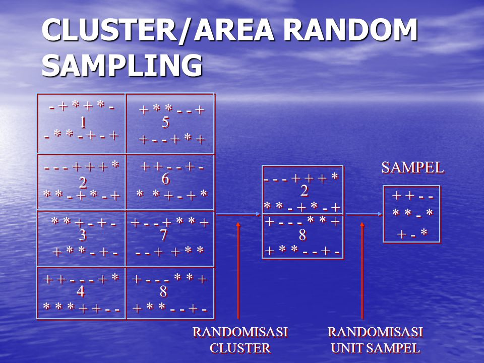 CLUSTER/AREA RANDOM SAMPLING