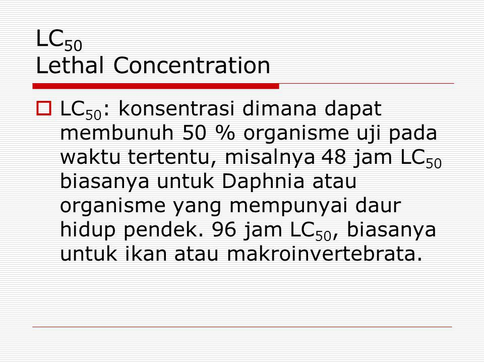 LC50 Lethal Concentration