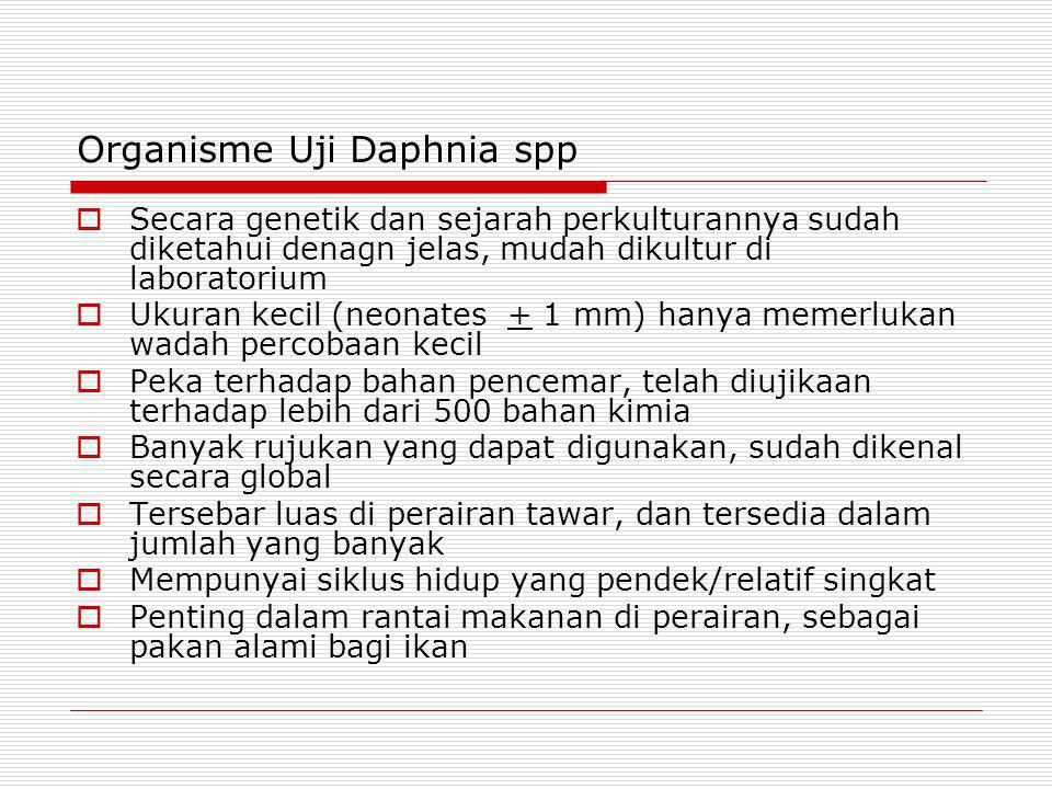 Organisme Uji Daphnia spp