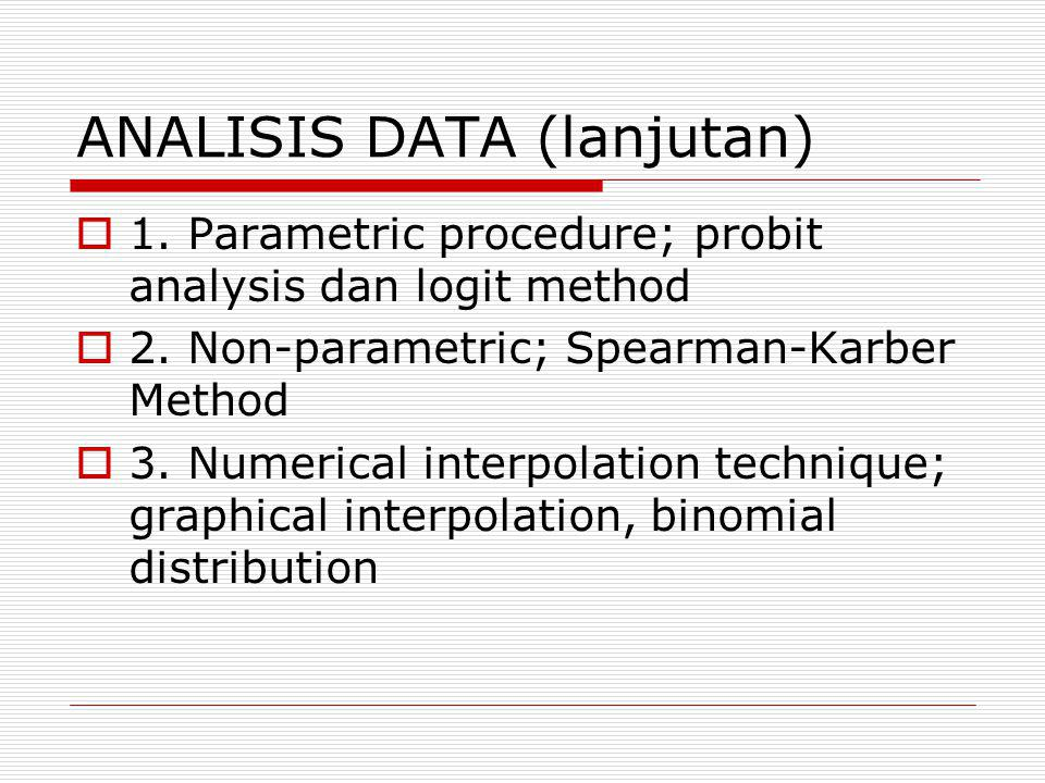 ANALISIS DATA (lanjutan)
