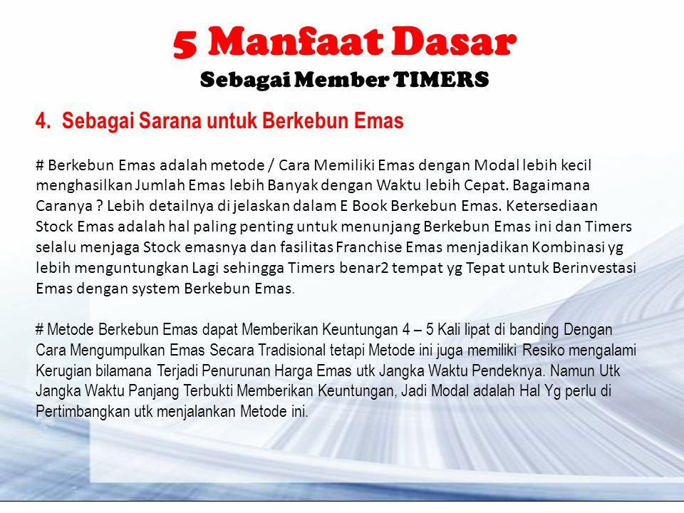 5 Manfaat Dasar Sebagai Member TIMERS