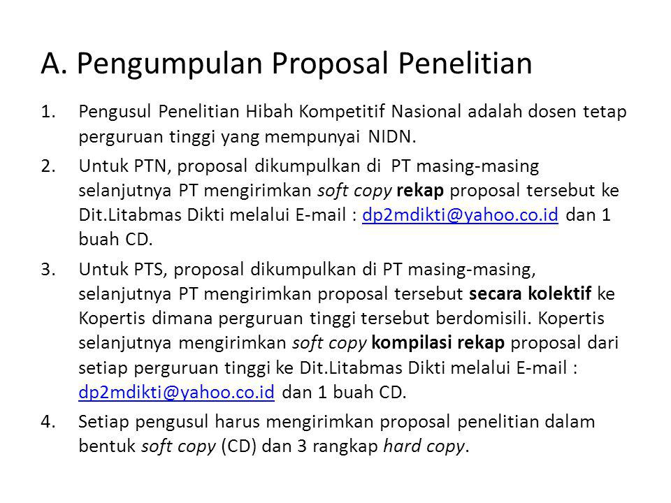A. Pengumpulan Proposal Penelitian