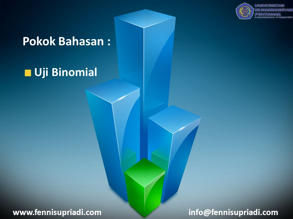 Pokok Bahasan : Uji Binomial www.fennisupriadi.com