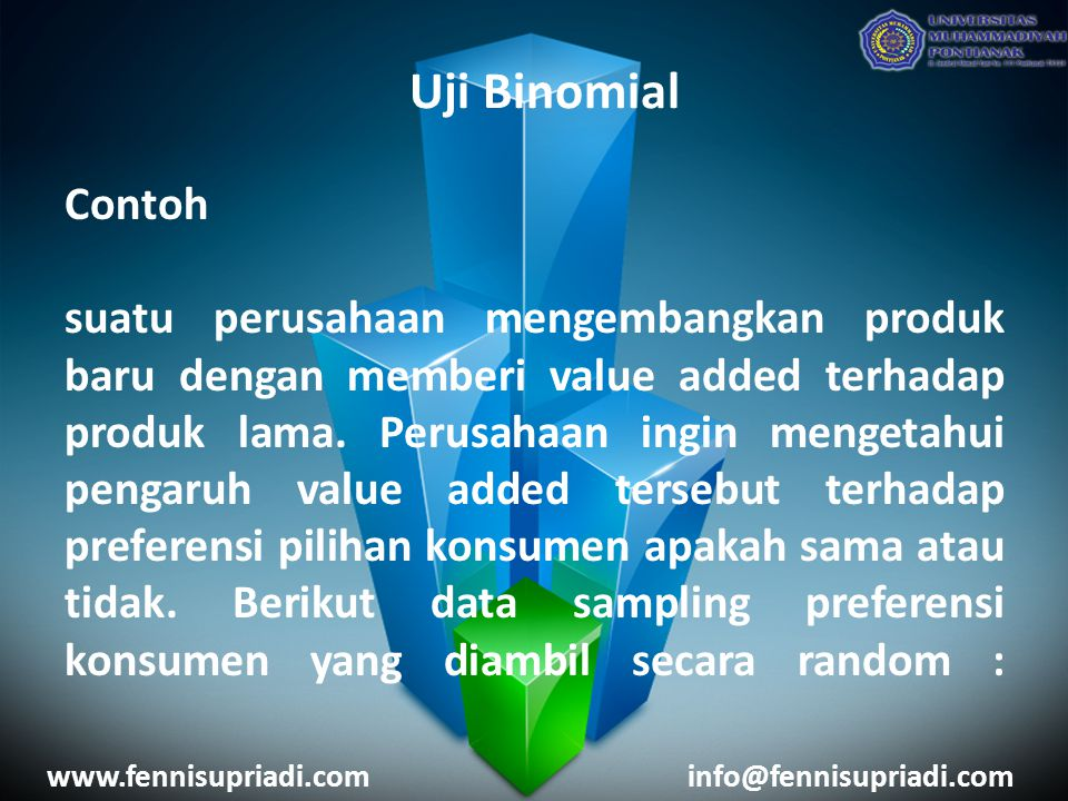 Uji Binomial Contoh.