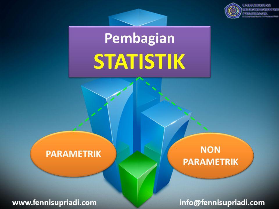 STATISTIK Pembagian NON PARAMETRIK PARAMETRIK www.fennisupriadi.com