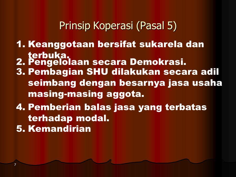 Prinsip Koperasi (Pasal 5)
