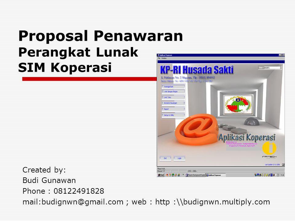 Proposal Penawaran Perangkat Lunak SIM Koperasi