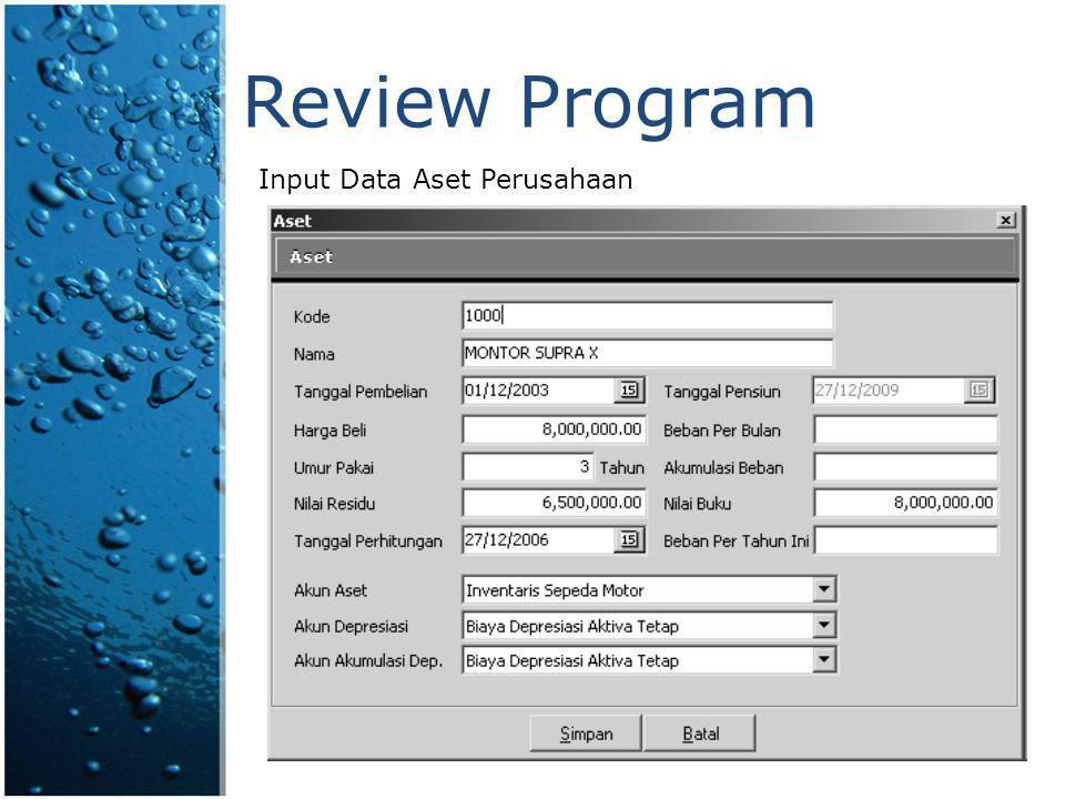 Review Program Input Data Aset Perusahaan