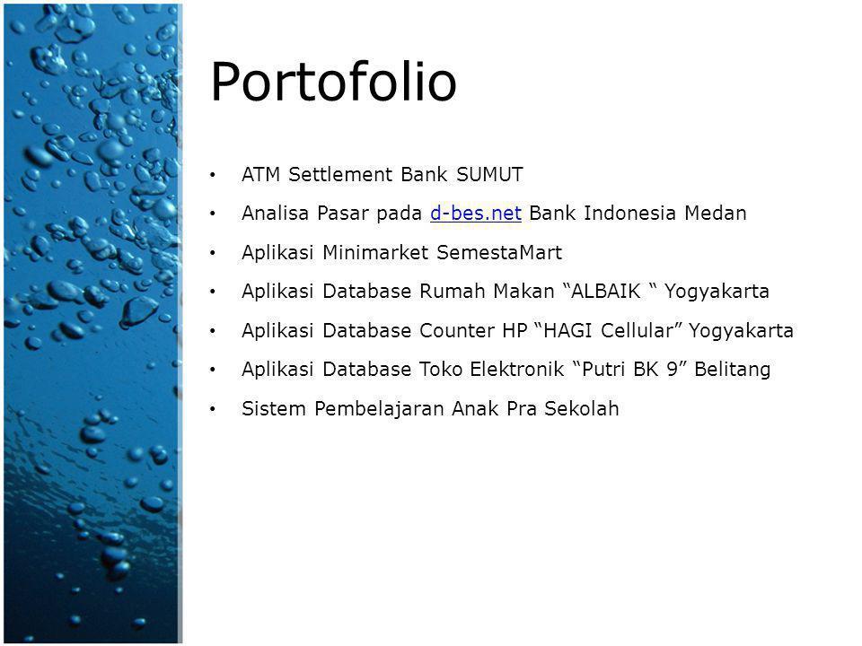 Portofolio ATM Settlement Bank SUMUT