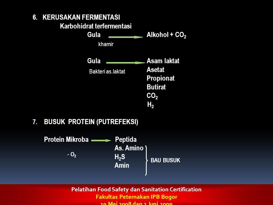 Karbohidrat terfermentasi Gula Alkohol + CO2