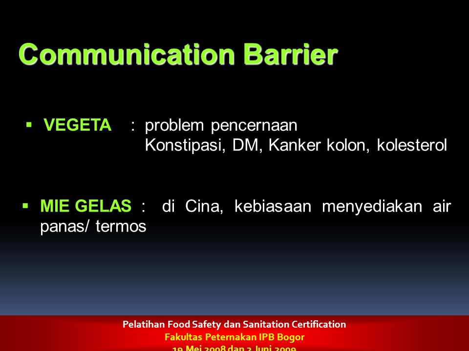 Communication Barrier