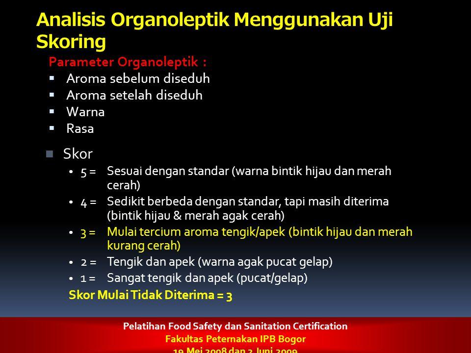 Analisis Organoleptik Menggunakan Uji Skoring