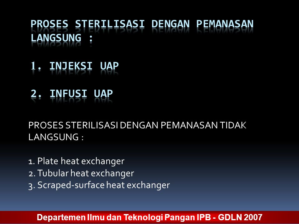 Departemen Ilmu dan Teknologi Pangan IPB - GDLN 2007