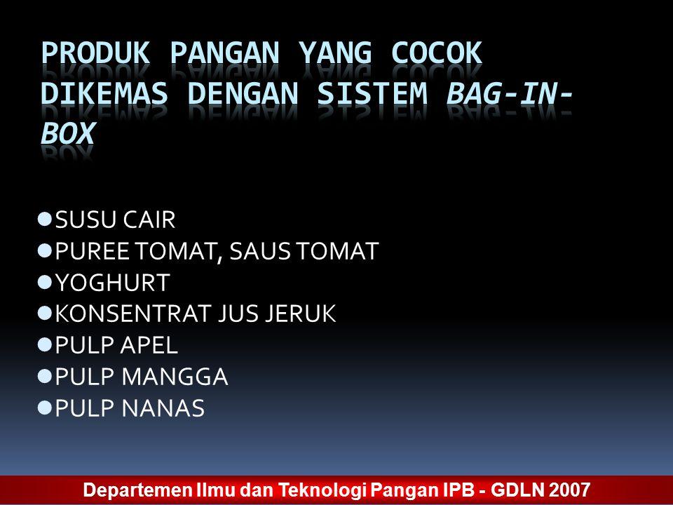 PRODUK PANGAN YANG COCOK DIKEMAS DENGAN SISTEM BAG-IN-BOX
