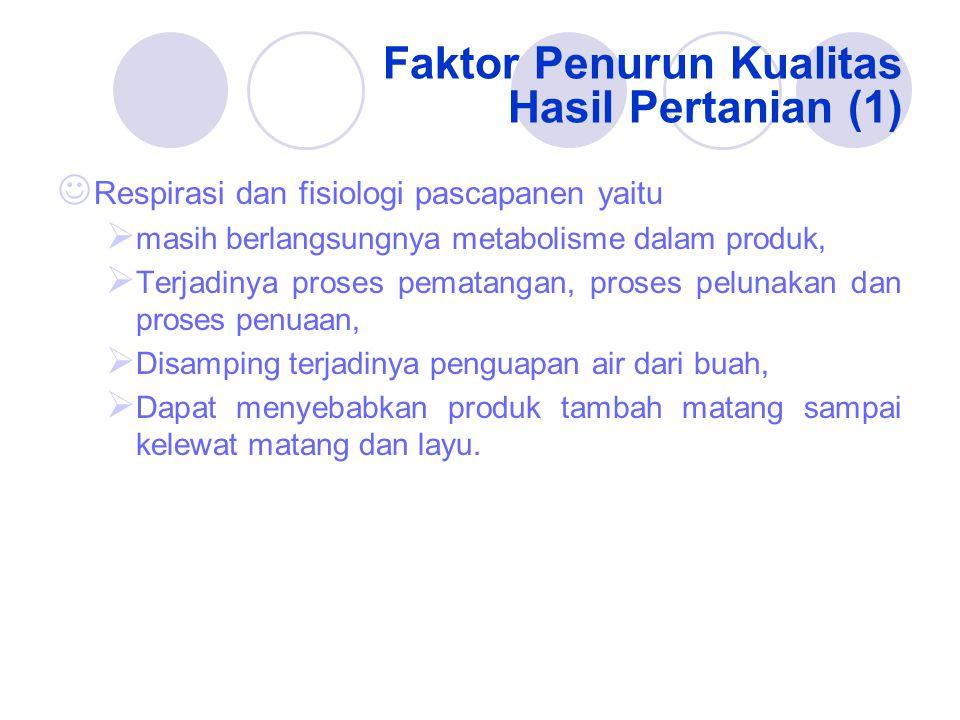 Faktor Penurun Kualitas Hasil Pertanian (1)
