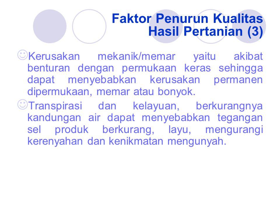 Faktor Penurun Kualitas Hasil Pertanian (3)