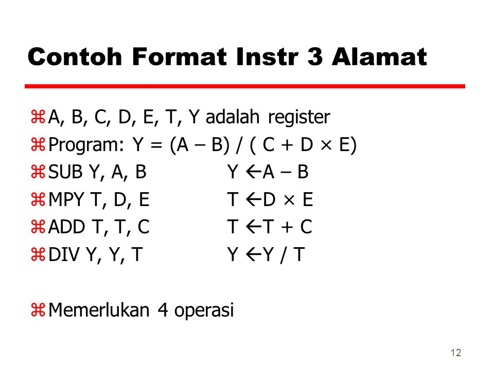 Contoh Format Instr 3 Alamat