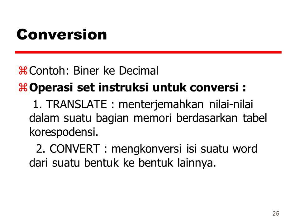 Conversion Contoh: Biner ke Decimal