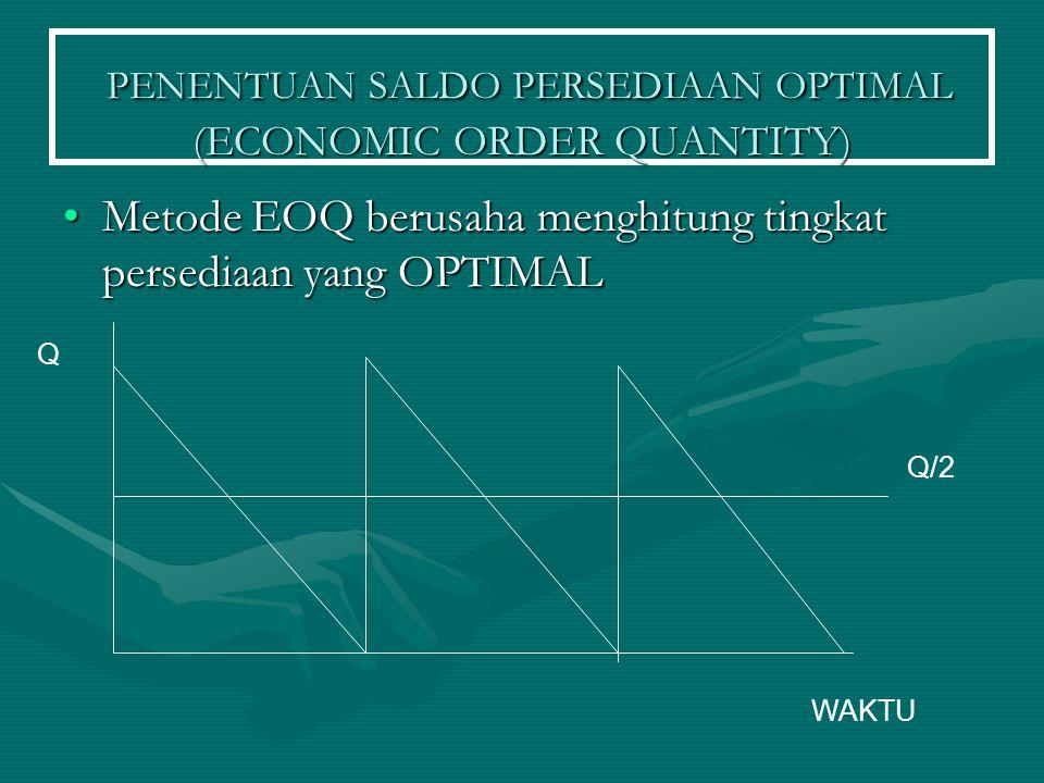 PENENTUAN SALDO PERSEDIAAN OPTIMAL (ECONOMIC ORDER QUANTITY)
