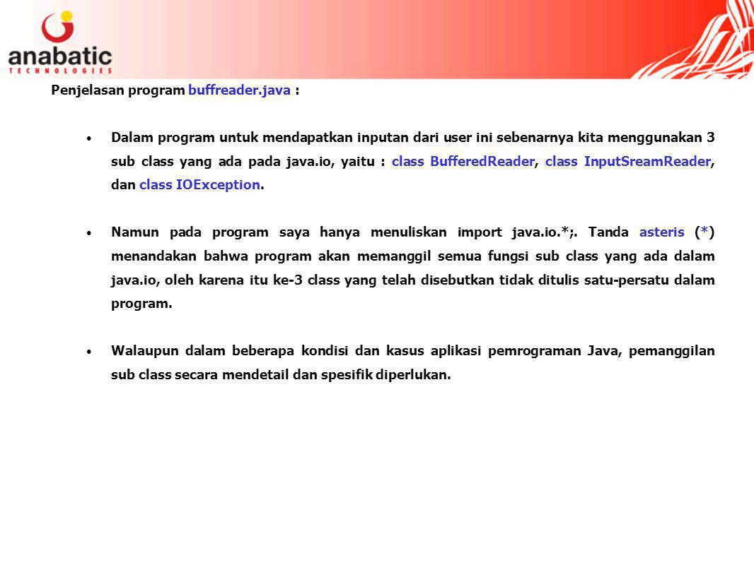 Penjelasan program buffreader.java :