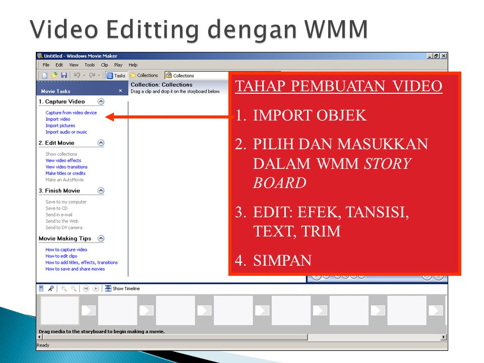 Video Editting dengan WMM