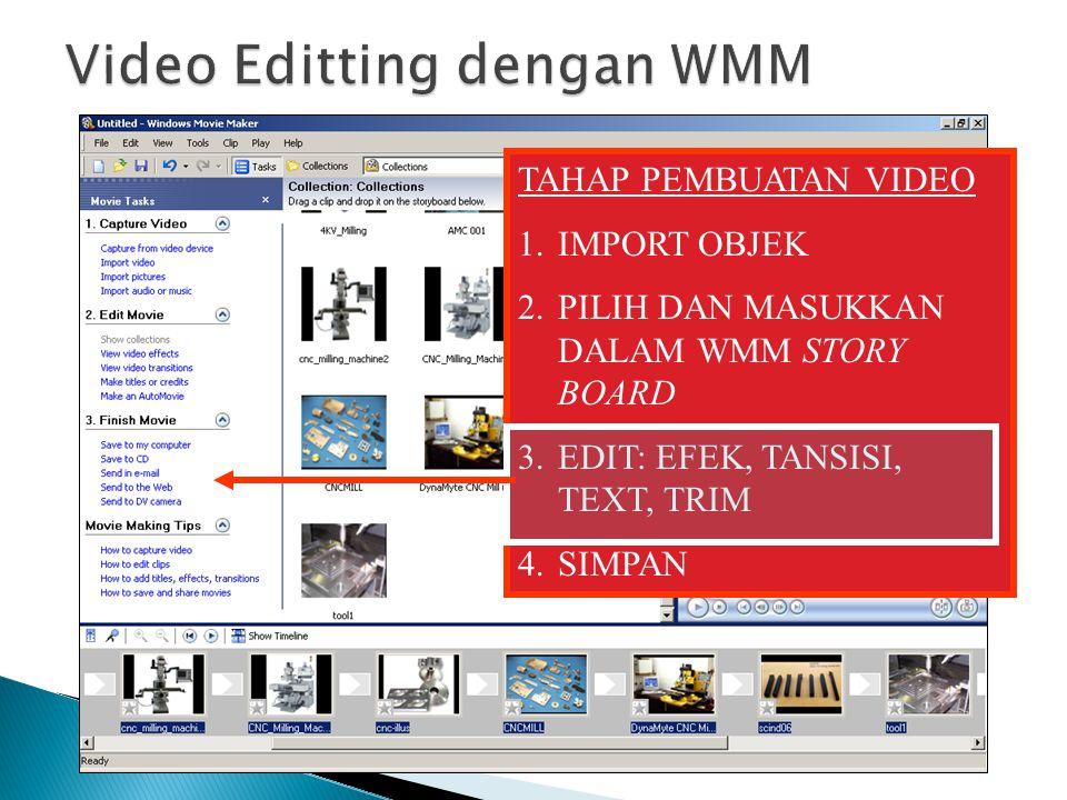 Video Editting dengan WMM