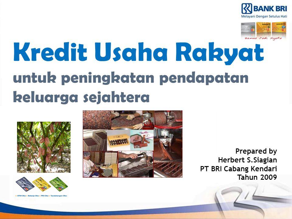 Kredit Usaha Rakyat untuk peningkatan pendapatan keluarga sejahtera