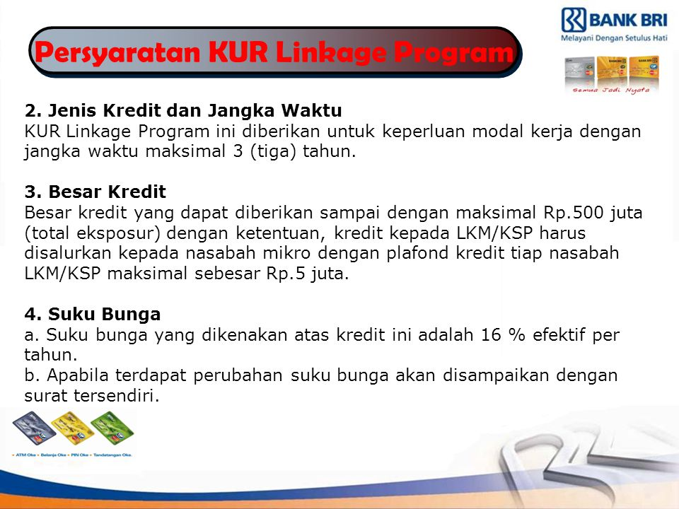 Persyaratan KUR Linkage Program