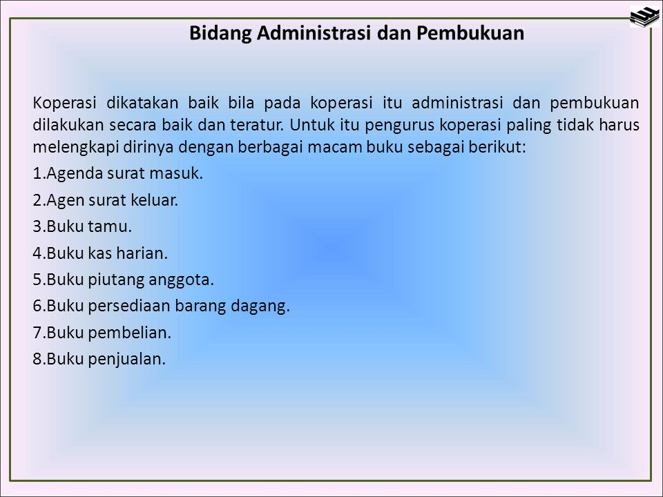 Bidang Administrasi dan Pembukuan