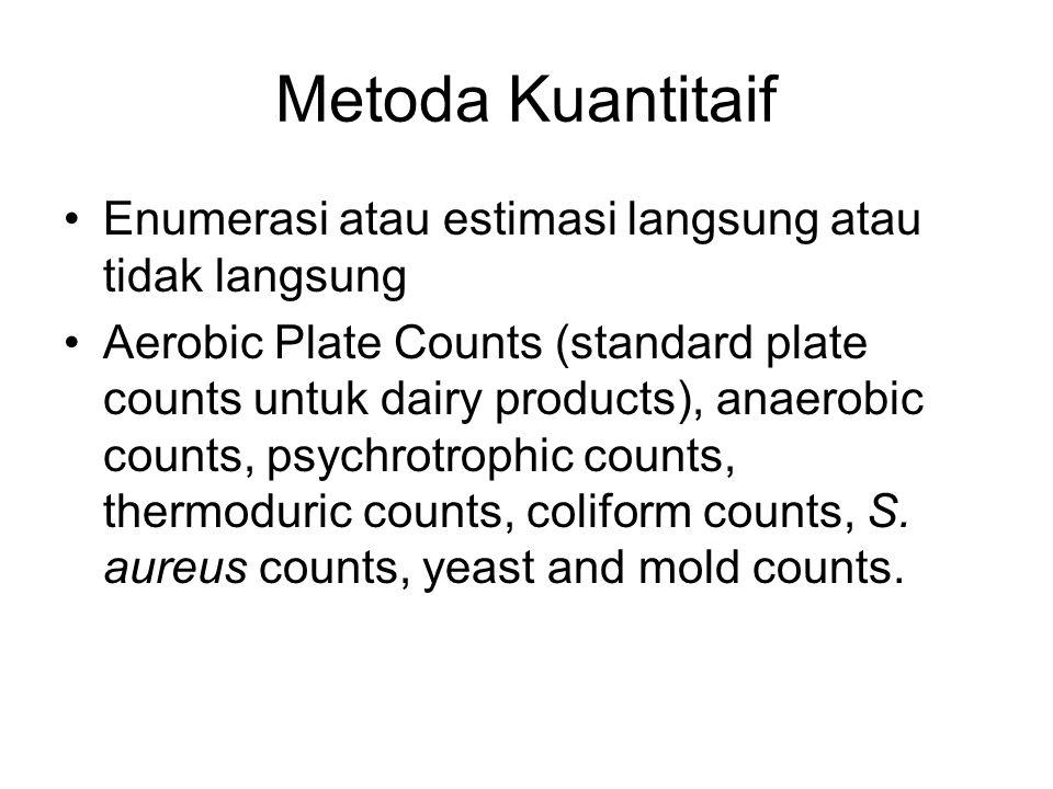 Metoda Kuantitaif Enumerasi atau estimasi langsung atau tidak langsung