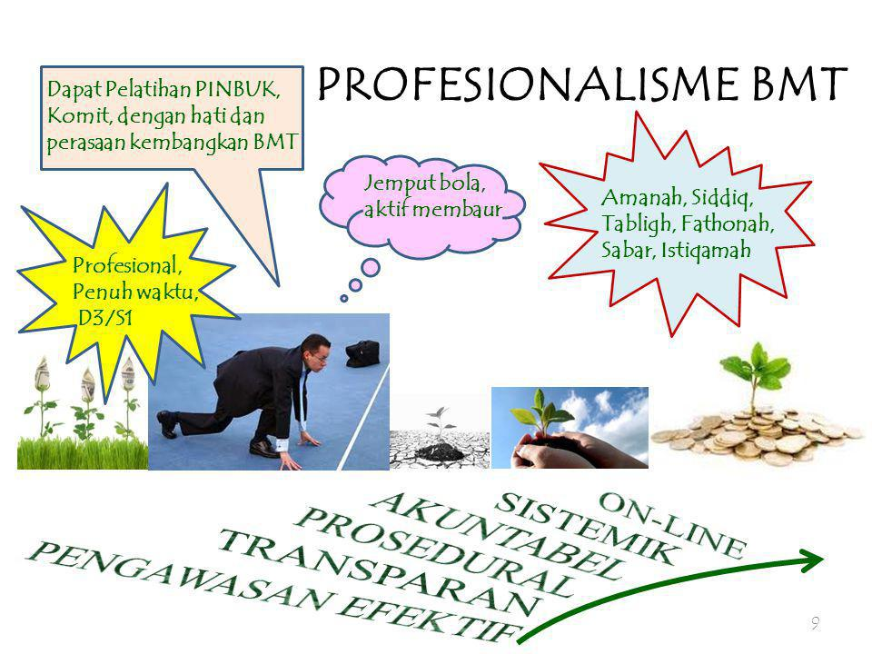 PROFESIONALISME BMT ON-LINE AKUNTABEL SISTEMIK PROSEDURAL TRANSPARAN